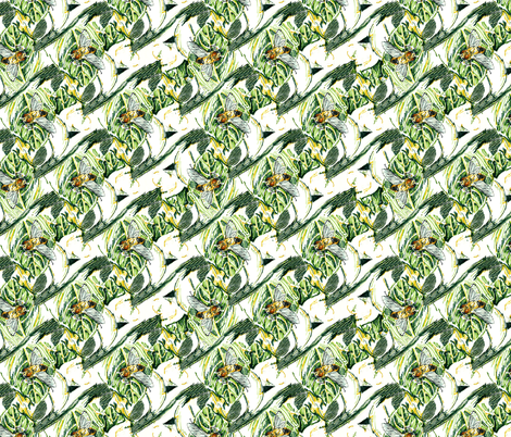 Bee Fly fabric by eclectic_house on Spoonflower - custom fabric