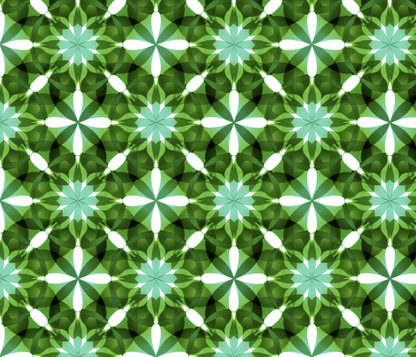 Green Mandala Pattern fabric by lavaflowzzz on Spoonflower - custom fabric