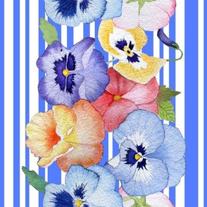 pansy stripe in blue