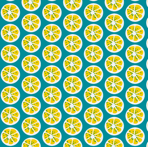 citrus spots (lemon) ©2011 Jill Bull fabric by palmrowprints on Spoonflower - custom fabric