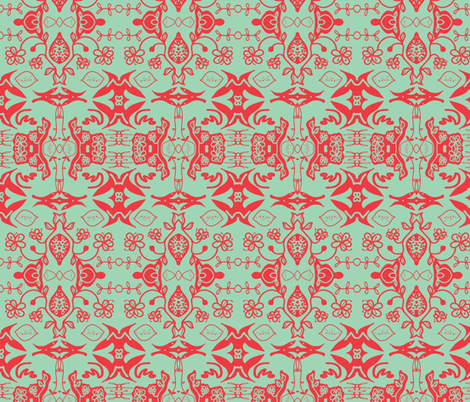 orange blossom (damask) fabric by palmrowprints on Spoonflower - custom fabric