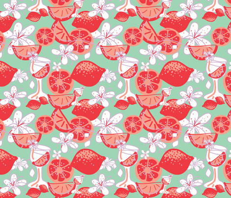 tangerine orange ©2012 Jill Bull fabric by palmrowprints on Spoonflower - custom fabric