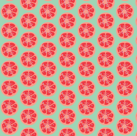 citrus spots (orange) fabric by fabricfarmer_by_jill_bull on Spoonflower - custom fabric