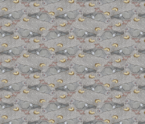 Pigeon and Donut fabric by eclectic_house on Spoonflower - custom fabric