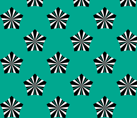 Deco Flower Teal fabric by modgeek on Spoonflower - custom fabric