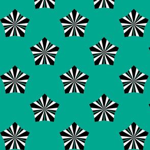 Deco Flower Teal