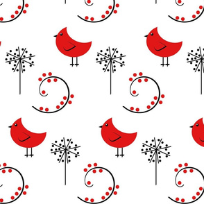 Red Bird Whimsical