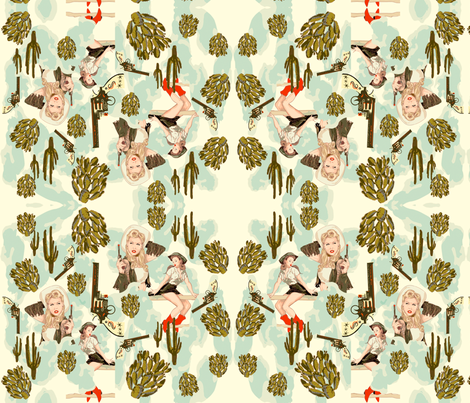Giddy-up Montage fabric by jessamarie on Spoonflower - custom fabric
