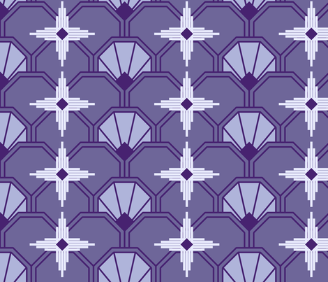 Art Deco Sunburst fabric by shelleymade on Spoonflower - custom fabric