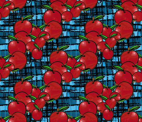 picnic with apples fabric by nalo_hopkinson on Spoonflower - custom fabric