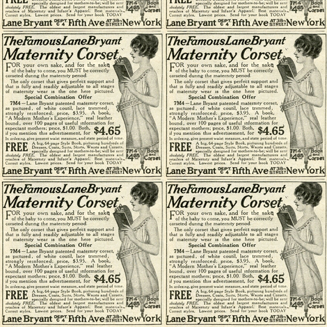 1918 advertisement: Corsets For Mommy fabric by edsel2084 on Spoonflower - custom fabric