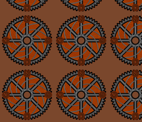 Steampunk Compass fabric by katsanders on Spoonflower - custom fabric