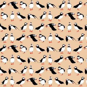 just puffins peach small