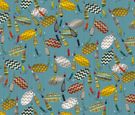 chevron spinners custom blue fabric by scrummy on Spoonflower - custom fabric