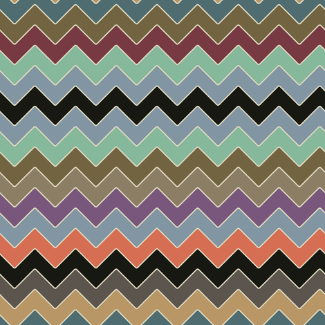 kissy kissy zig zag fabric by scrummy on Spoonflower - custom fabric