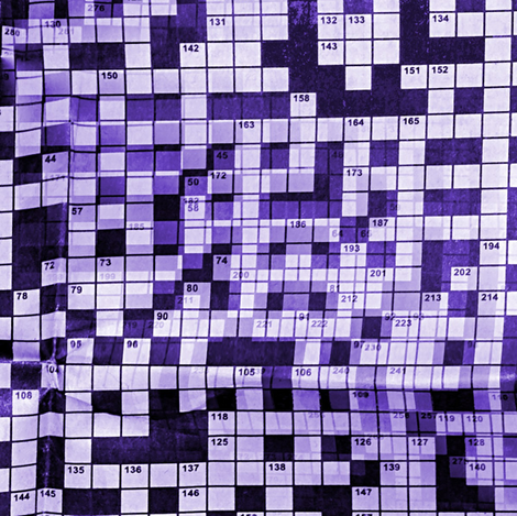 Sunday crossword fabric by nalo_hopkinson on Spoonflower - custom fabric