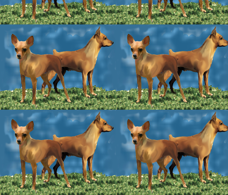 minpins fabric by dogdaze_ on Spoonflower - custom fabric