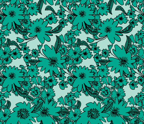 Forest Floor in Teal fabric by red_velvet on Spoonflower - custom fabric