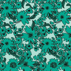 Forest Floor in Teal