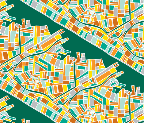 Cityscape fabric by red_velvet on Spoonflower - custom fabric
