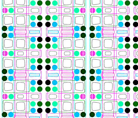 Lines and Dots fabric by glennis on Spoonflower - custom fabric