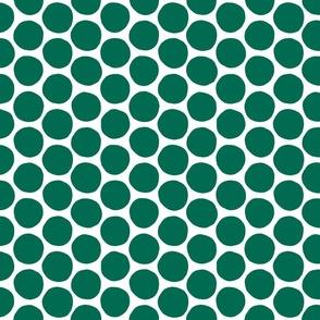 Teal Polka Dot
