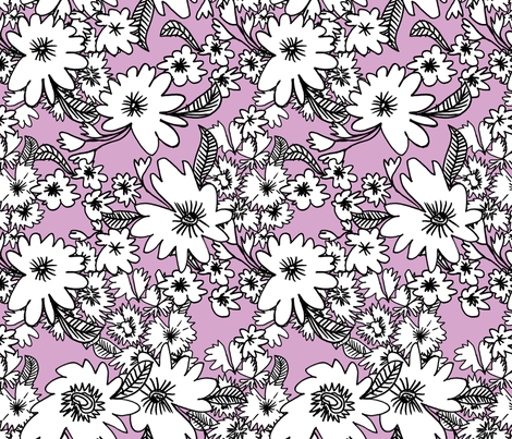Forest Floor in Violet fabric by red_velvet on Spoonflower - custom fabric