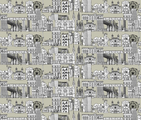 New York linen custom panels 44x10 inch fabric by scrummy on Spoonflower - custom fabric