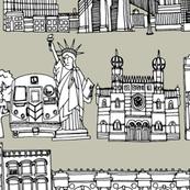 New York linen custom panels 44x10 inch