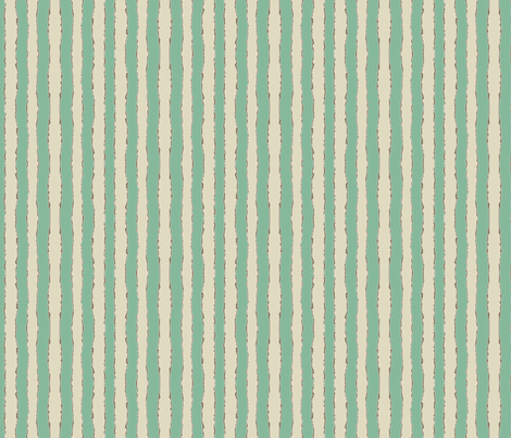 kissy wiggle stripe jade fabric by scrummy on Spoonflower - custom fabric