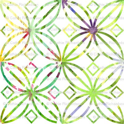 Spring Green Art Nouveau