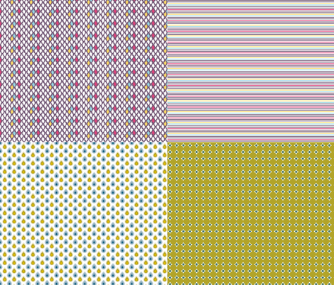 Miniature_4xpattern-1 fabric by ollipoppies on Spoonflower - custom fabric