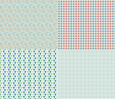Miniature_4xpattern-3 fabric by ollipoppies on Spoonflower - custom fabric