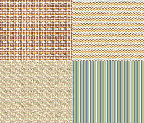 Miniature_4xpattern-6 fabric by ollipoppies on Spoonflower - custom fabric