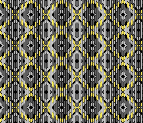 Art Deco Ikat fabric by patchinista on Spoonflower - custom fabric