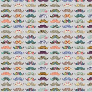 Mustache Mania (grey)