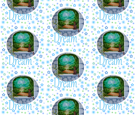 dream kitty fabric by krs_expressions on Spoonflower - custom fabric