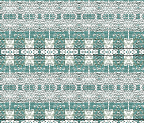 Summer Rain-quiet teal fabric by relative_of_otis on Spoonflower - custom fabric