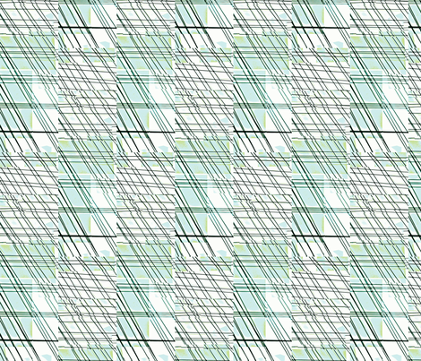 Summer Rain-blues/greens fabric by mbsmith on Spoonflower - custom fabric