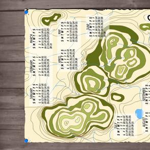 Old Map Calendar 2014