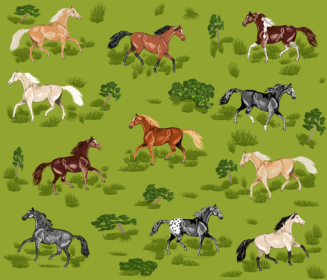 Horses_B_8 fabric by khowardquilts on Spoonflower - custom fabric