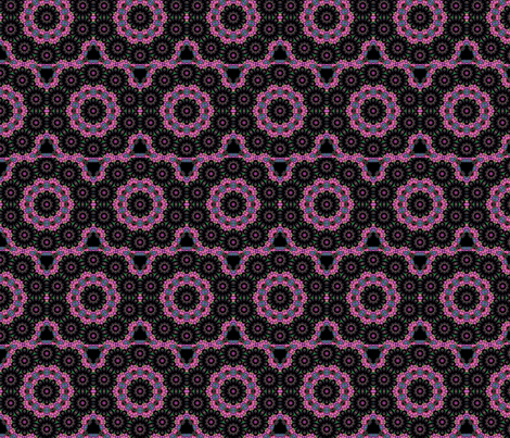 black & purple circle design
