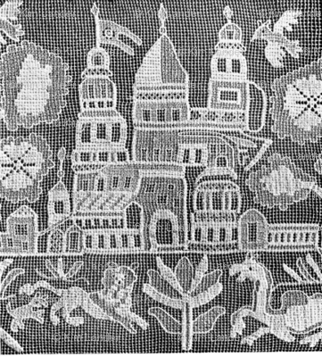 russian folk lace landscape