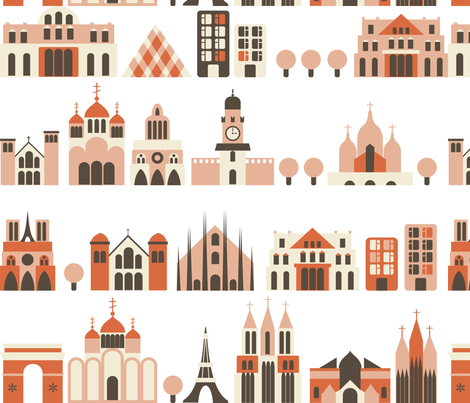 european streets fabric by anastasiia-ku on Spoonflower - custom fabric