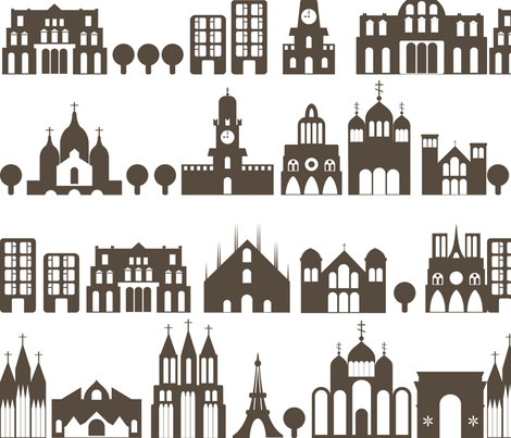 city streets fabric by anastasiia-ku on Spoonflower - custom fabric