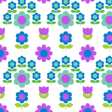 daisy_arch_wallpaper_blue