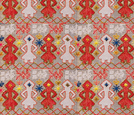 folk ladies fabric by kimbergay on Spoonflower - custom fabric