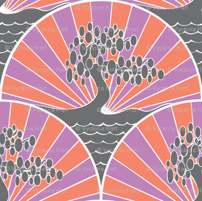 4-Colour Art Deco Tree