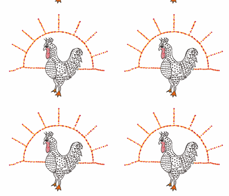 Art-Deco-Chicken fabric by scoutmom131 on Spoonflower - custom fabric