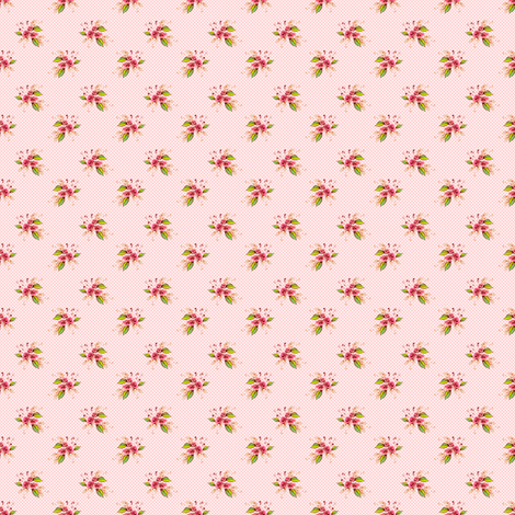 Parson's Pink Roses tiny fabric by joanmclemore on Spoonflower - custom fabric